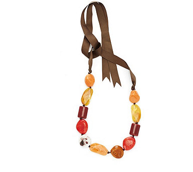 One Button Classically Quirky 140cm Necklace - 312874