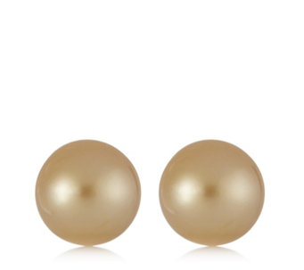 9-10mm Cultured South Sea Pearls Stud Earrings 14ct Gold - 306975