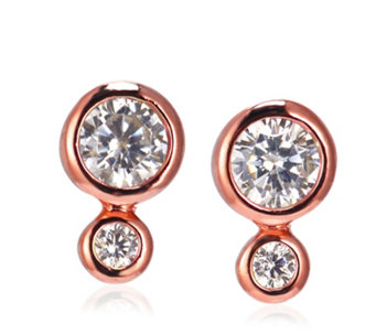 InStyle for Diamonique 'Clementine' 0.22ct tw Stud Earring - 307675