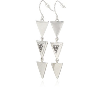 French Connection Triple Triangle Crystal Set Earrings - 309375