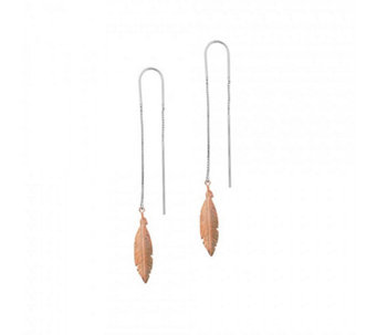 Azendi Spirited Away Feather Earrings Sterling Silver - 312075