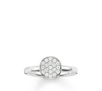 Thomas Sabo Sparking Circles Solitaire Ring Sterling Silver - 312375