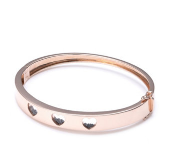Diamond Heart Bangle by Charlie Brook Sterling Silver - 306576
