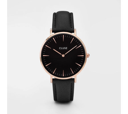 Cluse La Boheme Interchangeable Leather Strap Watch