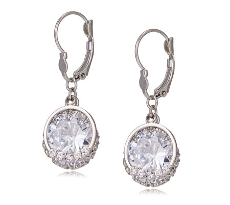 Loverocks Crystal Drop Leverback Earrings