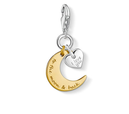 Thomas Sabo Charm Club Moon Charm Sterling Silver
