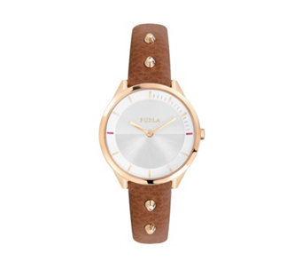 Furla Ladies Metropolis Leather Strap Watch - 314977
