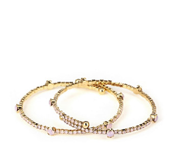 Butler & Wilson Crystal Row Set of Two Bracelets - 309978
