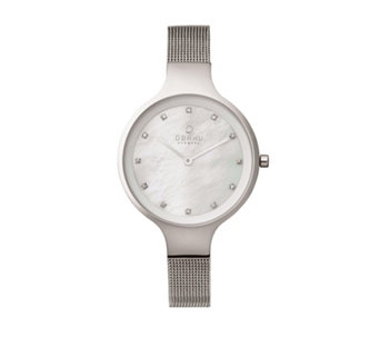Obaku Ladies Sky Mesh Strap Watch - 316078