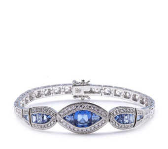 Elizabeth Taylor 2ct tw Simulated Sapphire Antique Bracelet - 308379