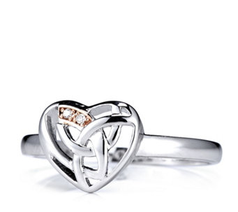 Clogau 9ct Rose Gold & Sterling Silver Eternal Love Diamond Heart Ring - 310080