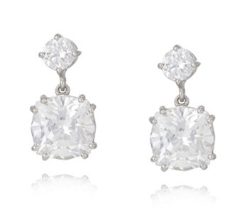 Michelle Mone for Diamonique 8ct tw Round Cut Drop Earrings Sterling Silver - 316180