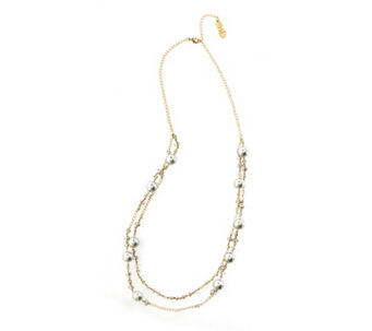 Butler & Wilson Glass Pearl 90cm Necklace - 309181