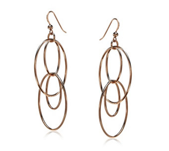 Bronzo Italia Oval Drop Earrings - 315281
