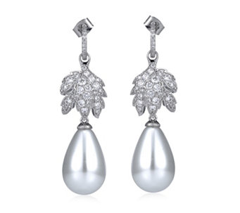 Elizabeth Taylor La Peregrina Simulated Pearl Drop Earrings - 308382
