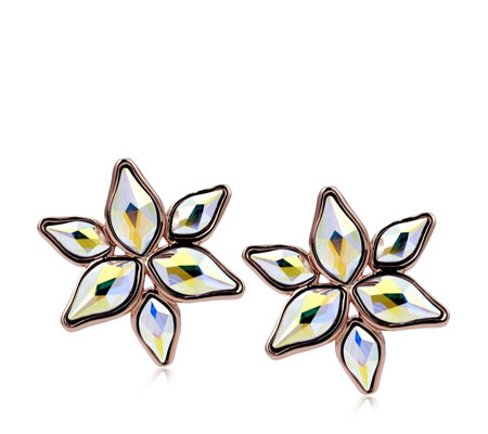 Aurora Swarovski Crystal Poinsettia Stud Earrings