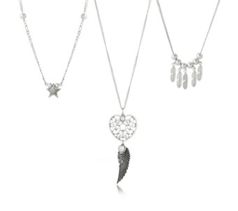 Bibi Bijoux Set of 3 Layered Charm Necklaces - 309082