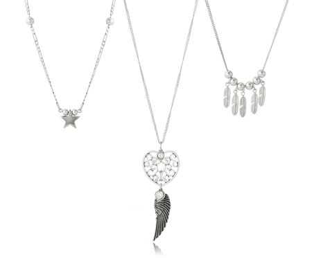 Bibi Bijoux Set of 3 Layered Charm Necklaces