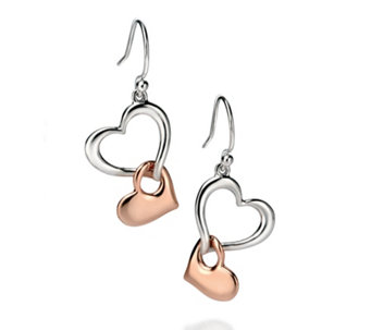 Fiorelli Multi Heart Earrings Rose Gold Plated Sterling Silver - 314682
