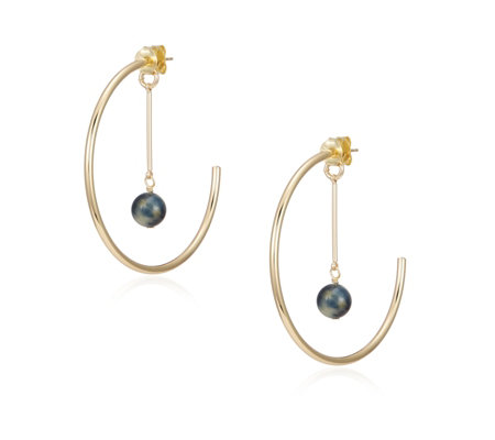 Lola Rose Katrina Semi Precious Hoop Earrings