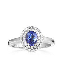0.7ct AAAA Tanzanite & 0.25ct Diamond Solitaire Ring 18ct Gold - 308683