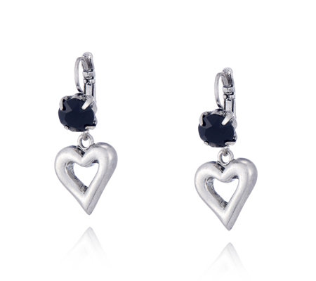 Bibi Bijoux Heart Stone Drop Earring