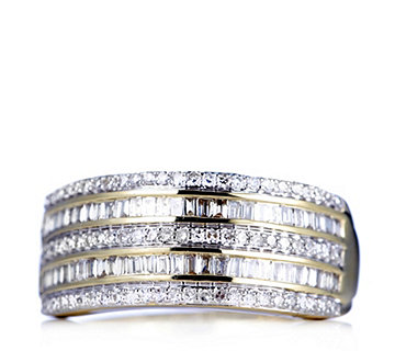 0.5ct Radiance Diamond Band Ring 9ct Gold - 309585