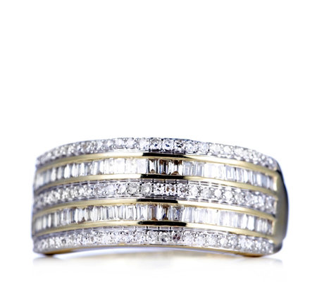 0.5ct Radiance Diamond Band Ring 9ct Gold