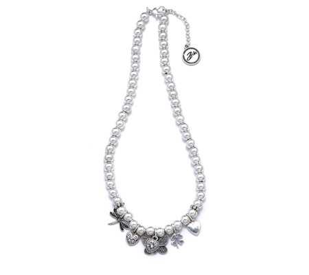 Bibi Bijoux Butterfly Ball Charm 48cm Necklace