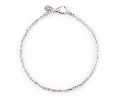 """As Is"" Bianca Platinum Plated Margherita 18.5cm Bracelet"
