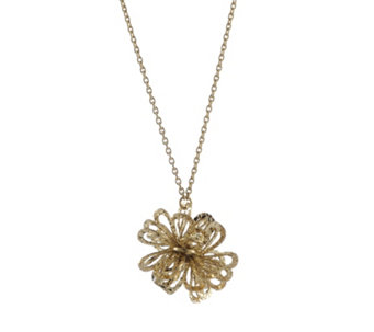 9ct Gold Dahlia Cluster 43cm Necklace - 307986