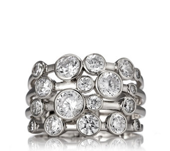 Michelle Mone for Diamonique 2.6ct tw Bubble Ring Sterling Silver - 308986