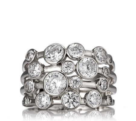 Michelle Mone for Diamonique 2.6ct tw Bubble Ring Sterling Silver
