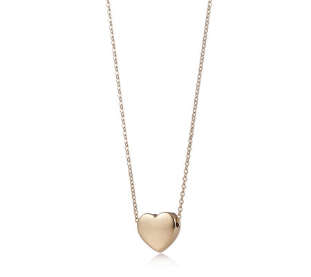 Bronzo Italia Heart 45cm Necklace