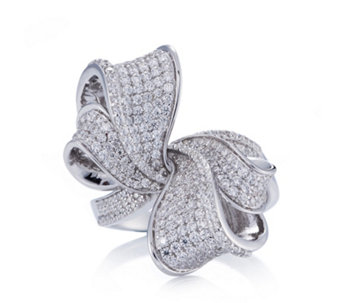 Diamonique Couture 2.5ct tw Cocktail Ring Sterling Silver - 306887