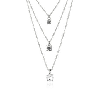 Loverocks Crystal Layer Chain 41cm Necklace - 307187