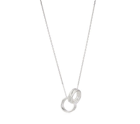Links of London Interlocking 43cm Necklace Sterling Silver