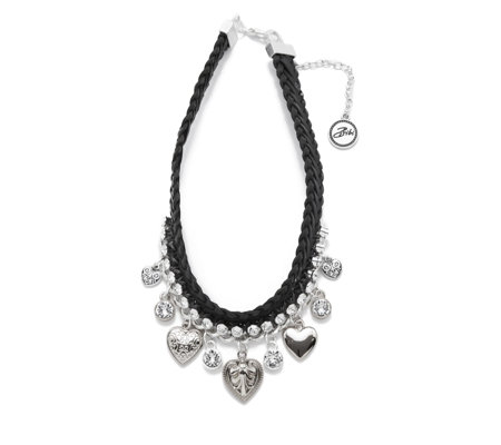 Bibi Bijoux Wide Leather Charm Choker