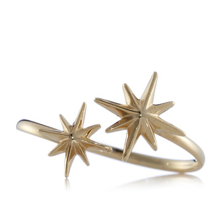 9ct Gold Double 8 Pointed Star Ring