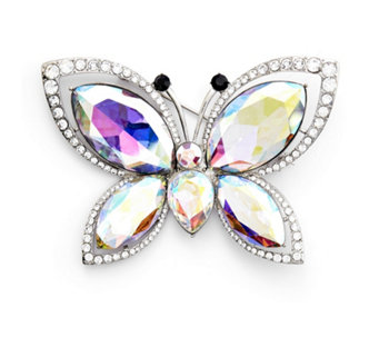 Butler & Wilson Crystal Wings Brooch - 309188