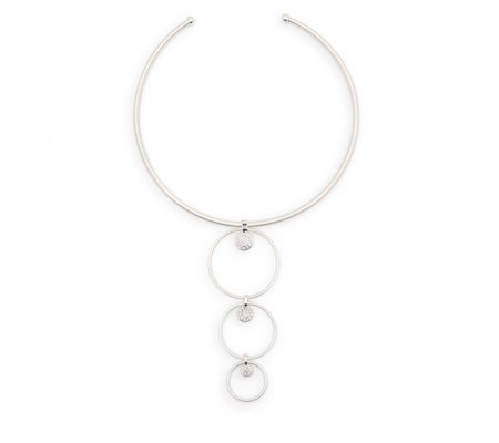 Pilgrim Hoop & Ball Statement 40cm Necklace