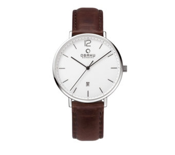 Obaku Men's Toft Leather Strap Watch - 315989