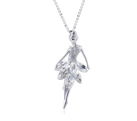 Frank usher crystal ballerina pendant necklace page 1 qvc uk frank usher crystal ballerina pendant necklace aloadofball Choice Image