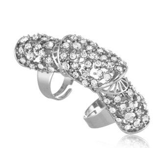 Loverocks Crystal Armour Ring - 307190