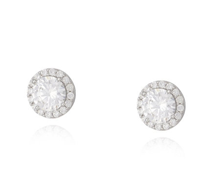 Diamonique 1.8ct tw Stud Earrings Sterling Silver