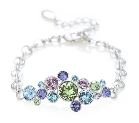 Aurora Swarovski Crystal Effervescent Multicoloured Bubble Bracelet