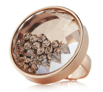 Frank Usher Floating Crystal Adjustable Ring - 306691