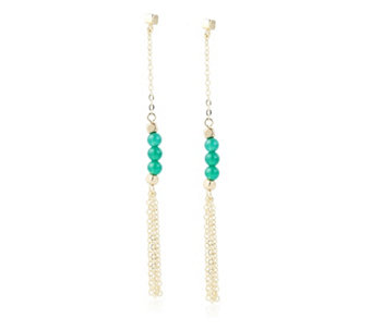 Lola Rose Kingsbury Semi Precious Tassel Drop Earrings - 305293