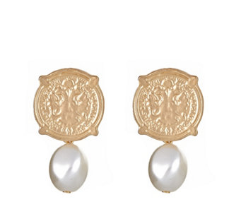 Fornash Calypso Coin Pearl Bead Earrings - 308793