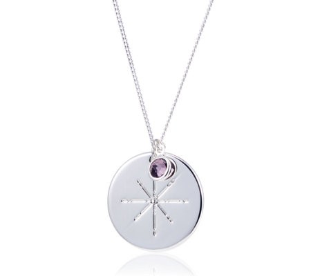 Pilgrim Birthstone Engraved 48cm Necklace